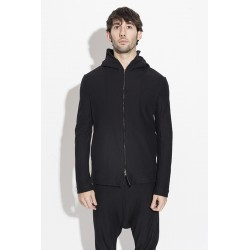 FORME D´EXPRESSION UG028 HOODED ZIPTHROUGH JACKET BLACK