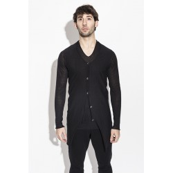 LABEL UNDER CONSTRUCTION 29YXCR42 ARCHED ZIP SEAM LONG CARDIGAN