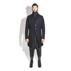 A NEW CROSS ANCFW17-001 ASYMETRIC TWISTED WOOL COAT