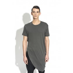 A NEW CROSS ANCSS18-026B OVERLAPPED COTTON TSHIRT