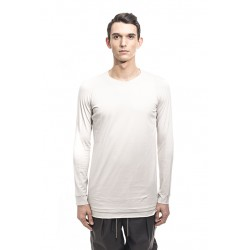 DEVOA CSC-SL3 LONG SLEEVE INDIAN COTTON JERSEY (SUVIN) WHITE GRAY