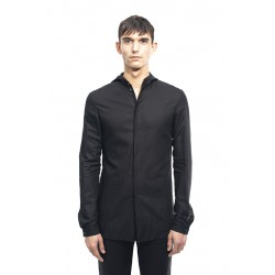 MA+ HOODED FITTED SHIRT H102H LCL BLACK