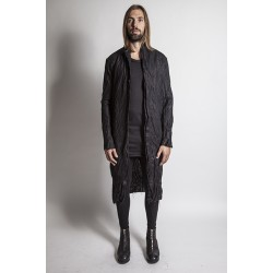 A NEW CROSS ANCSS16-021 FULLY HANDSTITCHED LINEN LONG JACKET
