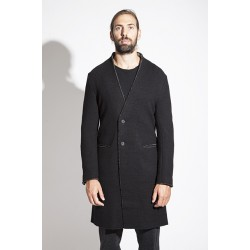 FORME D'EXPRESSION COLLARLESS DUSTER COAT-UNLINED