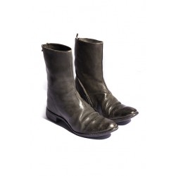 CAROL CHRISTIAN POELL O.D. LINED DIAGONAL ZIP GOOD YEAR BOOTS 100% LE