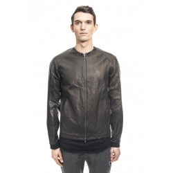 DEVOA LEC-ESB DEER LEATHER JACKET BLACK