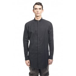 DEVOA SHP-LCW LONG SHIRT WASHI WASHER FINISH BLACK