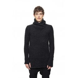 A NEW CROSS ANC I - 034 HOODED BASIC ALPACA SWEATER