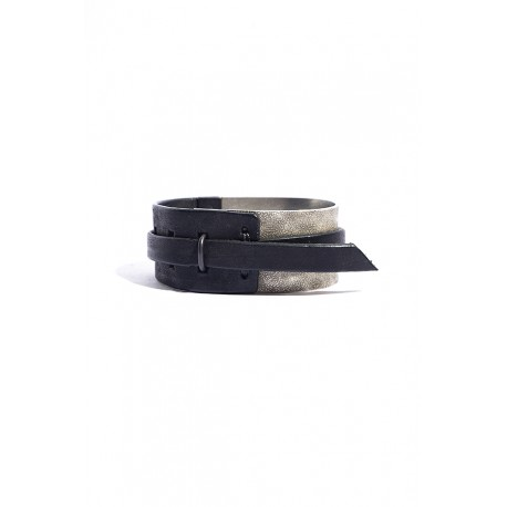 IOLOM IO-02-069 BRACELET AG950+HORSE LEATHER