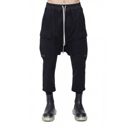 RICK OWENS RR19F4395 DRAWSTRING ASTAIRES CROPPED WF WOVEN PANT