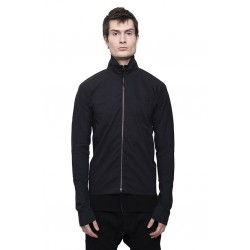 MA+ H252DZ ZIPPED TALL COLLAR SHIRT BLACK