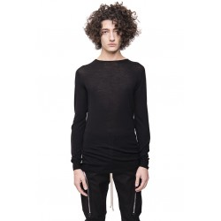 RICK OWENS RU20S7620 M KNIT SWEATER ROUND NECK 09 BLACK