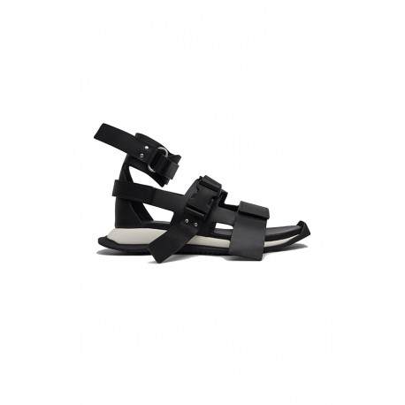 RICK OWENS RU20S7808 LBO LEATHER SANDALS