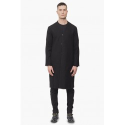DEVOA CTK-WSL COAT VIRGIN WOOL COMPRESSED  BLACK