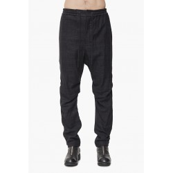 DEVOA PTF-NST EASY PANTS WILD SILK BLUE BLACK