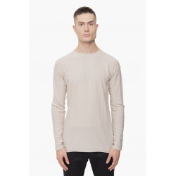DEVOA NTS-KWC KNIT COTTON CASHMERE WHITE GREY
