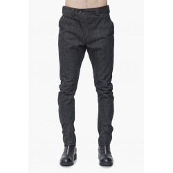 DEVOA PTA-RSD DENIM 13OZ COTTON SELVEDGE BLACK