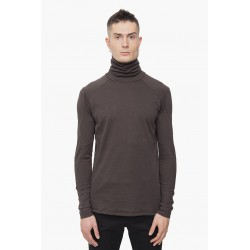 DEVOA CSC-VCS5 HIGH NECK LONG SLEEVE SOFT JERSEY BROWN GRAY