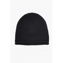 DEVOA TK-KC13 KNIT CAP HAND MADE WOOL/CASHMERE BLACK