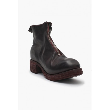 PL1WZ HORSE FULL GRAIN FRONT ZIP BOOTS SOLE LEATHER