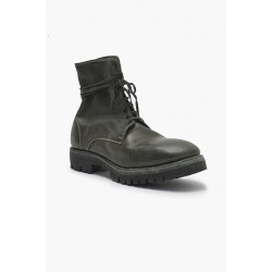 GUIDI 795V HORSE FULL GRAIN LACED UP BOOTS  SOLE RUBBER