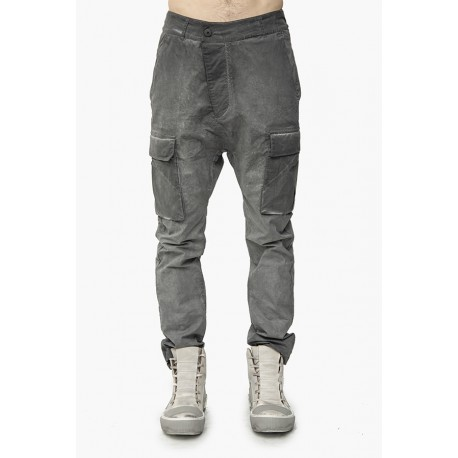 11 BY BORIS BIDJAN SABERI P21B F1482 DIRTY GREY COLD DYE PANT
