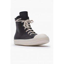 RICK OWENS RU02A5890 LPO LEATHER SNEAKERS