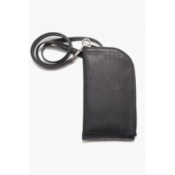 RICK OWENS RA02A0803 LC LEATHER NECKWALLET